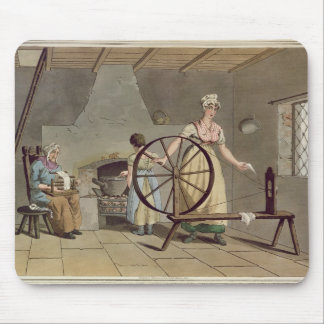 Woman Spinning, from 'Costume of Yorkshire' Mouse Pad