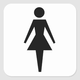 Woman Square Stickers