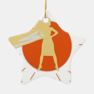 woman-superstar christmas ornament