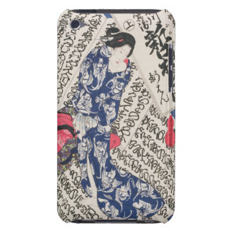 Woman surrounded by Calligraphy (colour woodblock iPod Touch Case-Mate Case
