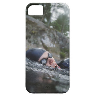 Woman swimming, close-up iPhone 5 covers