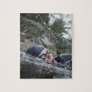 Woman swimming, close-up jigsaw puzzle