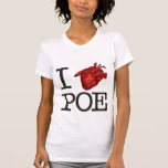 "Woman T-Shirt ""Poe Heart"" Camisetas"
