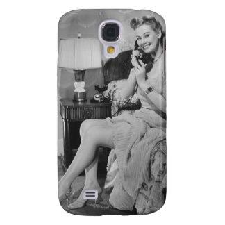 Woman Talking on Phone Galaxy S4 Case