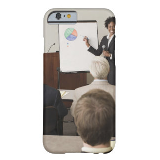 Woman teaching a class to adults barely there iPhone 6 case