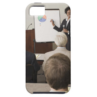 Woman teaching a class to adults iPhone 5 cases