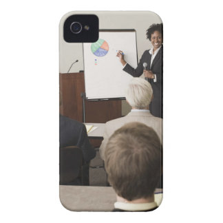 Woman teaching a class to adults Case-Mate iPhone 4 case