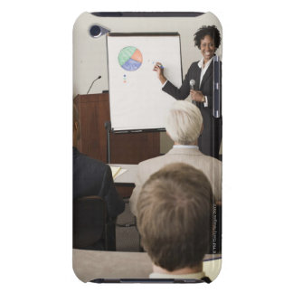 Woman teaching a class to adults iPod Case-Mate case