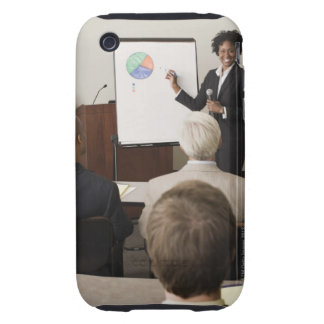 Woman teaching a class to adults tough iPhone 3 covers