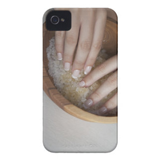Woman touching bowl of sugar iPhone 4 Case-Mate case