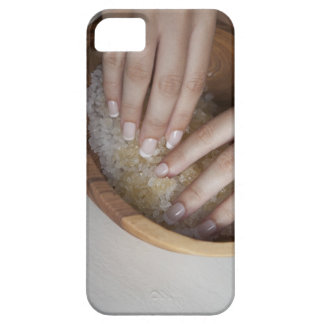 Woman touching bowl of sugar iPhone 5 cover