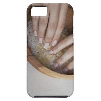 Woman touching bowl of sugar tough iPhone 5 case