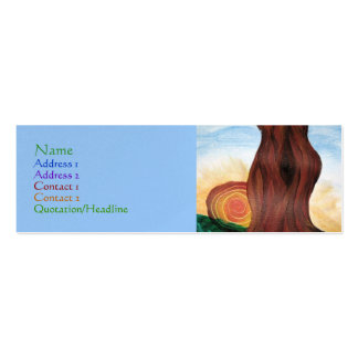 Woman Tree Profile Card Business Cards