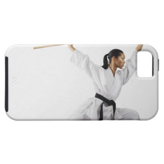 Woman using bow staff case for the iPhone 5