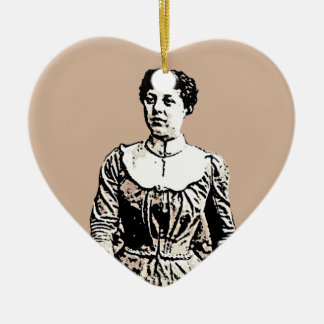 Woman Vintage Clothing Ceramic Heart Decoration