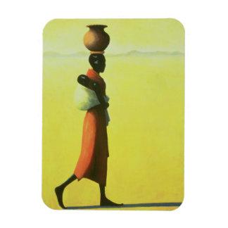 Woman Walking 1990 Rectangular Photo Magnet