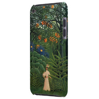 'Woman Walking in an Exotic Forest' iPod Touch Covers