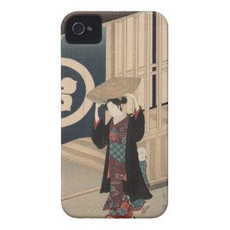 Woman walking - Vintage Japanese Woodblock iPhone 4 Cover