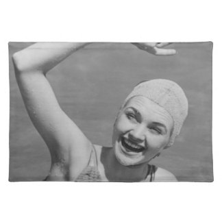 Woman Waving Placemat