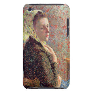Woman wearing a green headscarf, 1893 iPod Case-Mate case