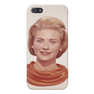 Woman Wearing Scarf iPhone 5/5S Cover