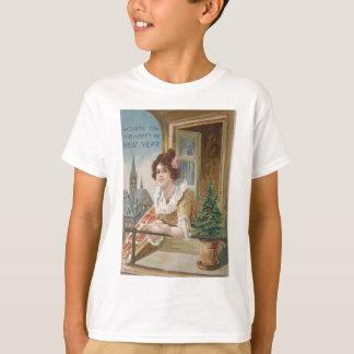 Woman Window Church Christmas Tree T-shirts