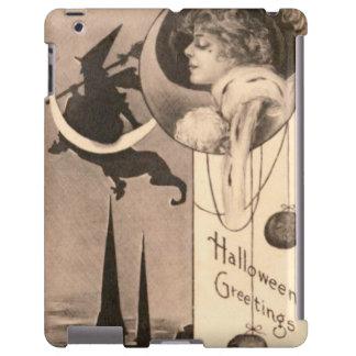 Woman Witch Crescent Moon Jack O' Lantern iPad Case