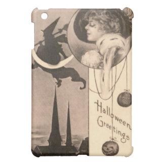 Woman Witch Crescent Moon Jack O' Lantern iPad Mini Cases
