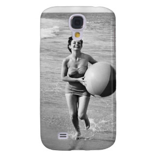 Woman with a Beach Ball Galaxy S4 Case