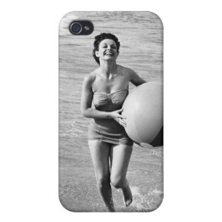 Woman with a Beach Ball iPhone 4/4S Case