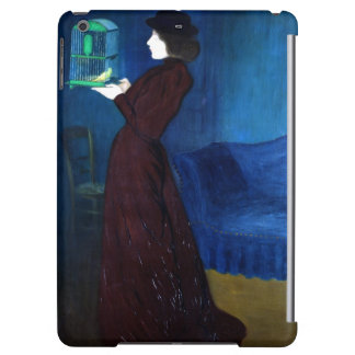 Woman with a Bird Cage Cover For iPad Air