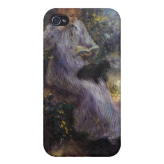 Woman with a black dog by Pierre Renoir iPhone 4/4S Case