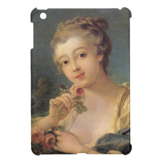 Woman with a Bouquet of Roses by Francois Boucher Cover For The iPad Mini