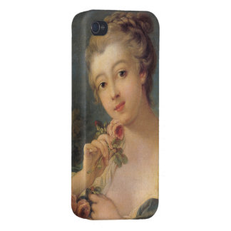 Woman with a Bouquet of Roses by Francois  Boucher iPhone 4 Cover