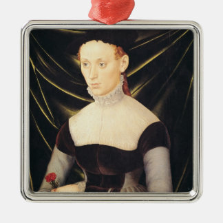 Woman with a Carnation Christmas Ornament