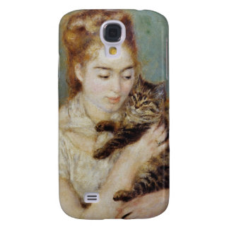 Woman with a Cat by Pierre-Auguste Renoir Galaxy S4 Case