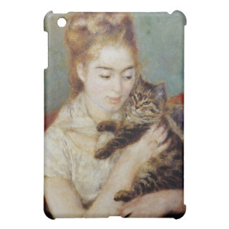 Woman with a Cat by Pierre-Auguste Renoir iPad Mini Cases
