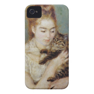 Woman with a Cat by Pierre-Auguste Renoir iPhone 4 Case