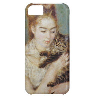 <Woman with a Cat> by Pierre-Auguste Renoir iPhone 5C Case