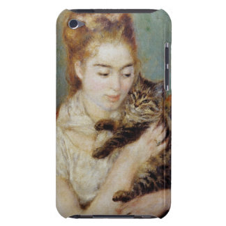 Woman with a Cat by Pierre-Auguste Renoir iPod Case-Mate Cases