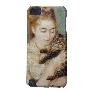 Woman with a Cat by Pierre-Auguste Renoir iPod Touch 5G Cases