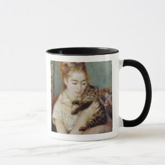 Woman with a Cat by Pierre-Auguste Renoir Mug