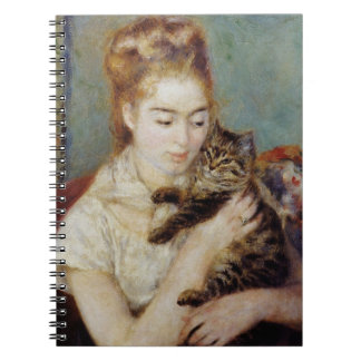 Woman with a Cat by Pierre-Auguste Renoir Notebook