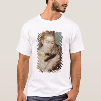 Woman with a Cat by Pierre-Auguste Renoir T-Shirt