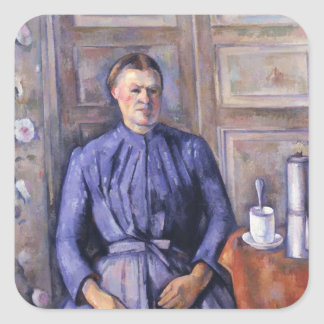 Woman with a Coffee Pot, c.1890-95 Square Sticker