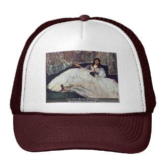 Woman With A Fan By Manet Edouard Trucker Hat