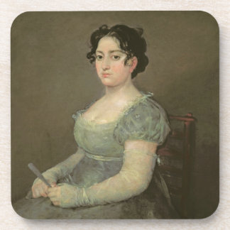 Woman with a Fan, c.1805-06 (oil on canvas) Drink Coaster