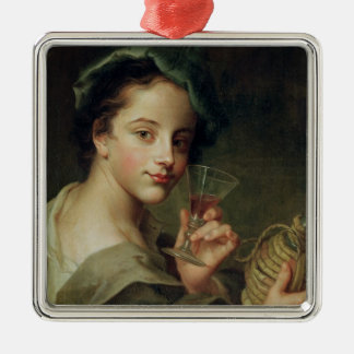 Woman with a Glass of Wine Christmas Ornament