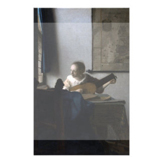 Woman with a Lute by Johannes Vermeer Custom Flyer