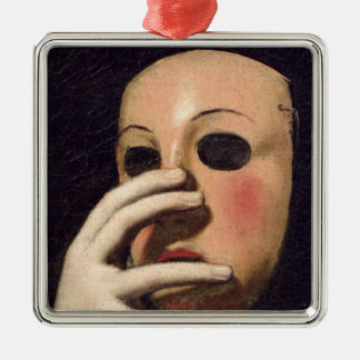 Woman with a Mask Christmas Ornament